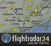 Link para Flight Radar 24